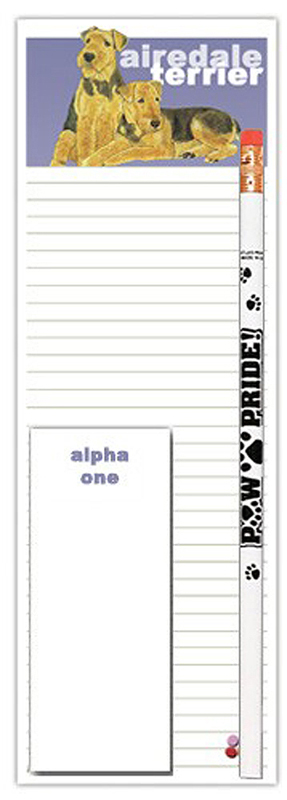 Airedale Dog Notepads To Do List Pad Pencil Gift Set 1