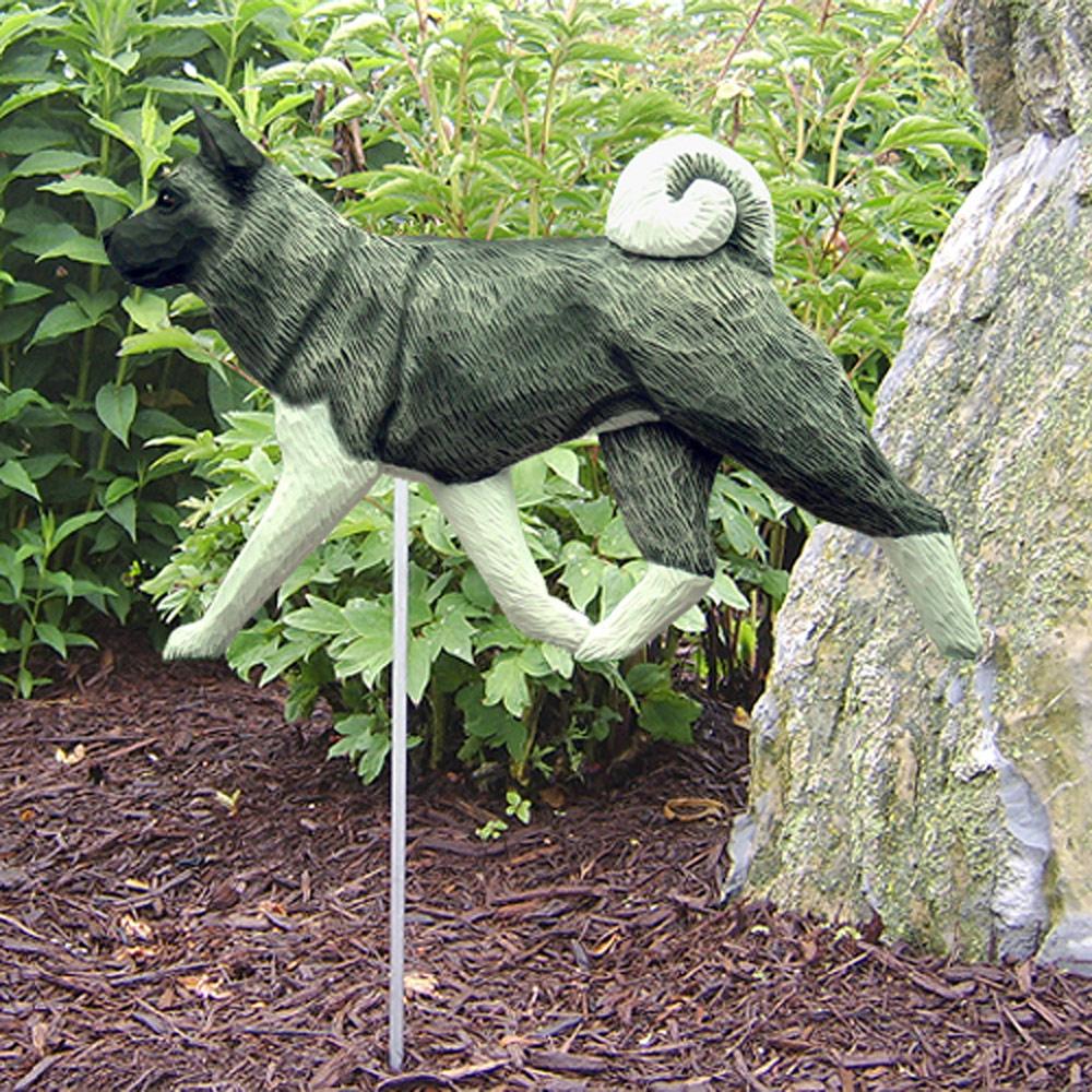 Akita Garden Stake Sign Gray