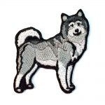 Alaskan Malamute Iron on Embroidered Patch