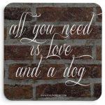 American Bulldog Wood Dog Sign Wall Plaque 5 x 10 + Bonus Coaster 2