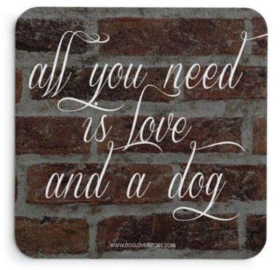 American Bulldog Wood Dog Sign Wall Plaque 5 x 10 + Bonus Coaster