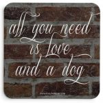 Saint Bernard Wood Dog Sign Wall Plaque 5 x 10 + Bonus Coaster 2