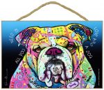 Bulldog Sign - All You Need is Love & a Dog 7 x 10.5