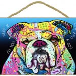 Bulldog Sign – All You Need is Love & a Dog 7 x 10