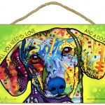 Dachshund Sign – All You Need is Love & a Dog 7 x 10