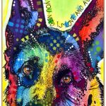 German Shepherd Sign – All You Need is Love & a Dog 7 x 10