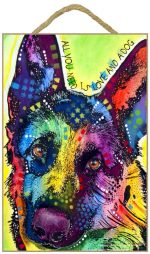 German Shepherd Sign - All You Need is Love & a Dog 7 x 10.5