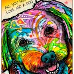 Maltese Sign – All You Need is Love & a Dog 7 x 10
