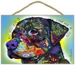 Rottweiler Sign - All You Need is Love & a Dog 7 x 10.5