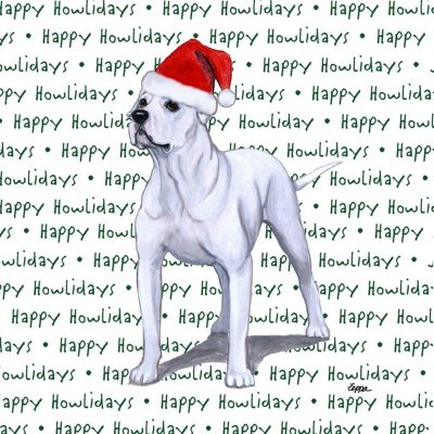 American Bulldog Dog Coasters Christmas Themed 1
