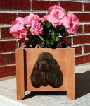 American Cocker Spaniel Planter Flower Pot Brown