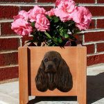 American Cocker Spaniel Planter Flower Pot Brown 1