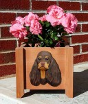 American Cocker Spaniel Planter Flower Pot Brown Tan