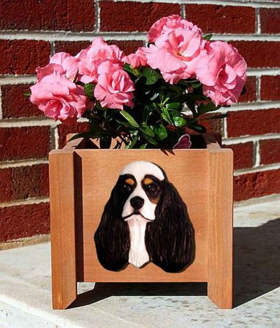 American Cocker Spaniel Planter Flower Pot Tri 1