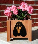 American Cocker Spaniel Planter Flower Pot Black Tan