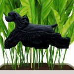 american-cocker-spaniel-black-planter-stake