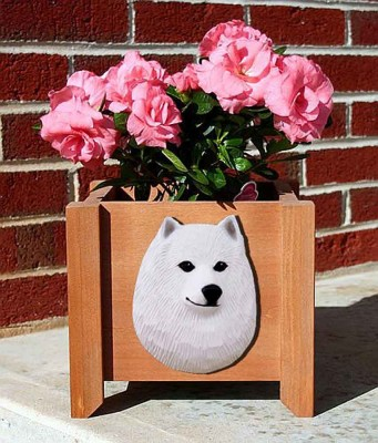 American Eskimo Planter Flower Pot