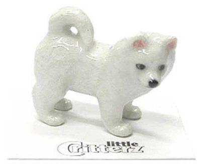 American Eskimo Hand Painted Porcelain Miniature Figurine