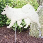 American Eskimo Outdoor Garden Sign
