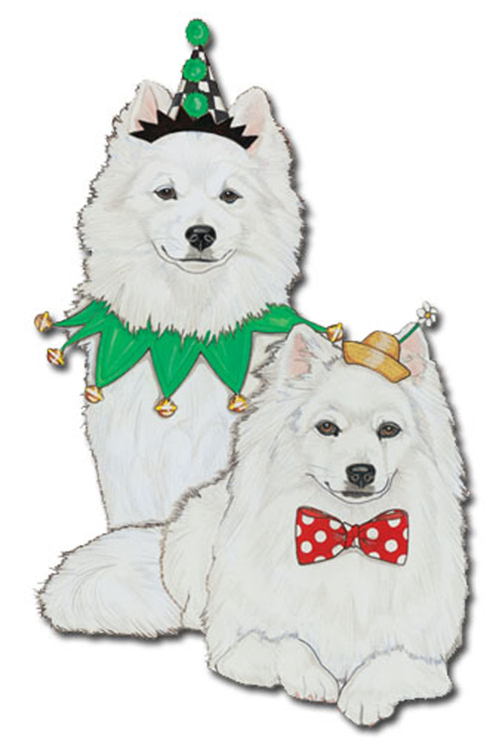 American Eskimo Wooden Magnet