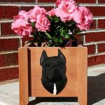 American Staffordshire Planter Flower Pot Black 1
