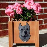 American Staffordshire Planter Flower Pot Blue 1