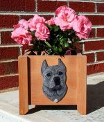 American Staffordshire Planter Flower Pot Blue