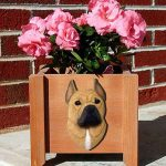 American Staffordshire Planter Flower Pot Fawn 1