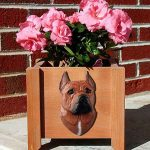 American Staffordshire Planter Flower Pot Red 1