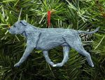 American Staffordshire Terrier Ornament Blue