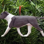 American Staffordshire Terrier Ornament Blue/White 1