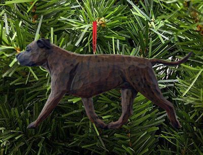 American Staffordshire Terrier Ornament Brindle 1