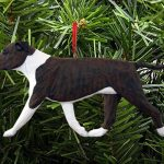 American Staffordshire Terrier Ornament Brindle/White 1