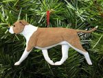American Staffordshire Terrier Ornament Fawn/White
