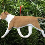 American Staffordshire Terrier Ornament Fawn/White 1