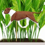 american-staffordshire-terrier-uncropped-red-white-planter-stake