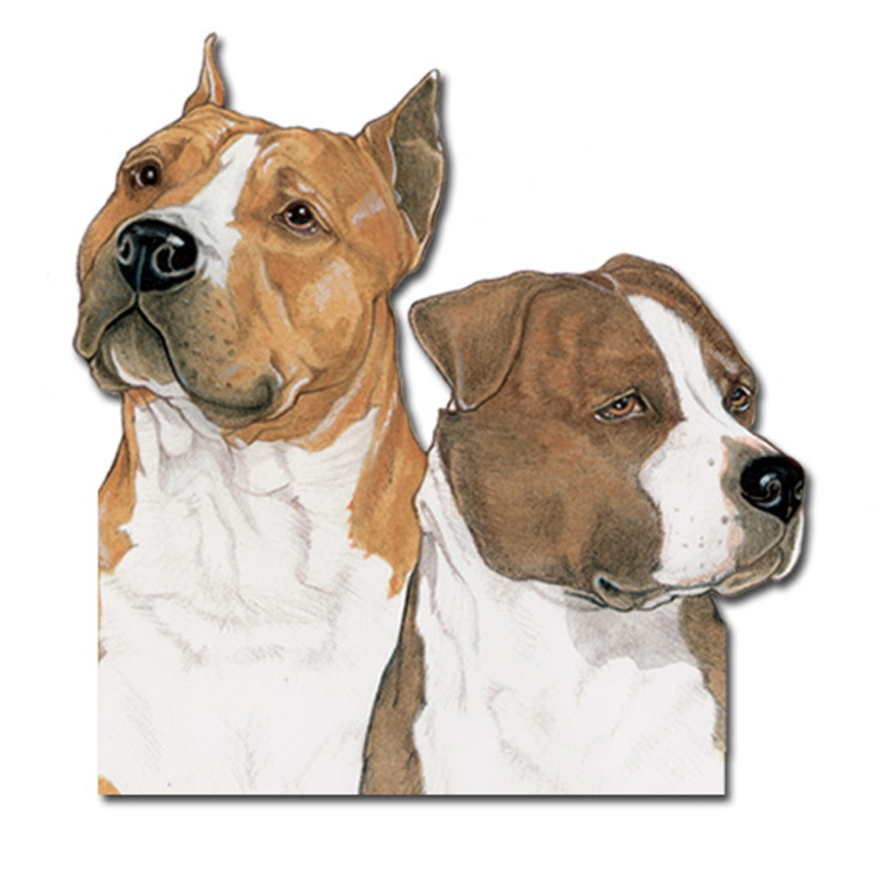 American Staffordshire Terrier Wooden Magnet