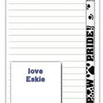 American Eskimo Dog Notepads To Do List Pad Pencil Gift Set 1
