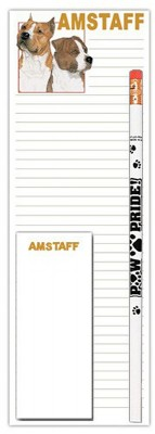 American Staffordshire Terrier Dog Notepads To Do List Pad Pencil Gift Set 1
