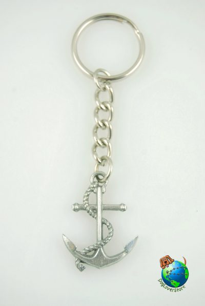 Maritime Anchor Key Chain In Pewter Anchors