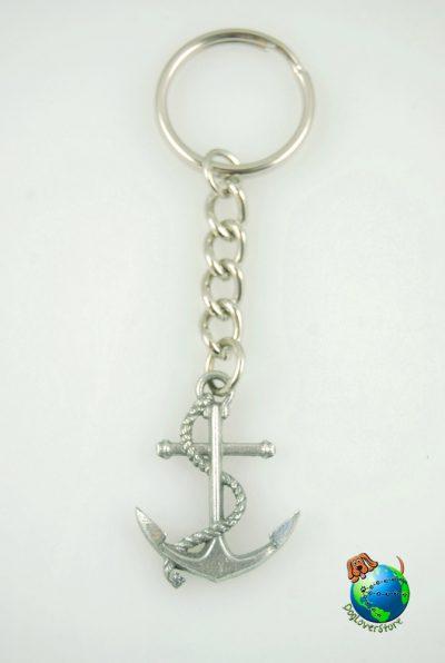 Sea Anchor Keychain Key Chain Ring Fine Pewter Silver