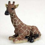 Giraffe Mini Resin Hand Painted Wildlife Animal Figurine