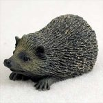 Hedgehog Mini Resin Hand Painted Wildlife Animal Figurine
