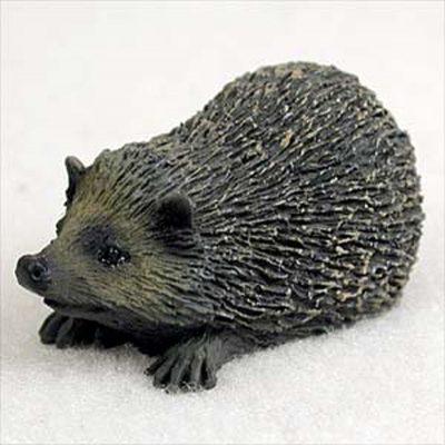 Hedgehog Mini Resin Hand Painted Wildlife Animal Figurine 1