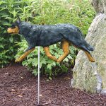 Australian Cattle Dog Garden Stake Sign Blue