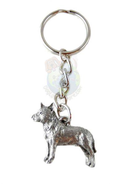 Australian Cattle Dog Pewter Keychain