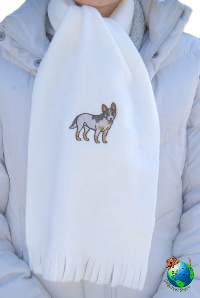 Australian Cattle Dog Scarf Cream Fleece 1