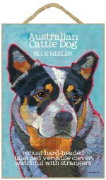 Australian Cattle Dog Characteristics Indoor Sign Blue