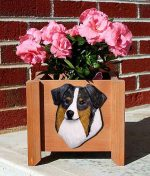 Australian Shepherd Planter Flower Pot Blue Merle