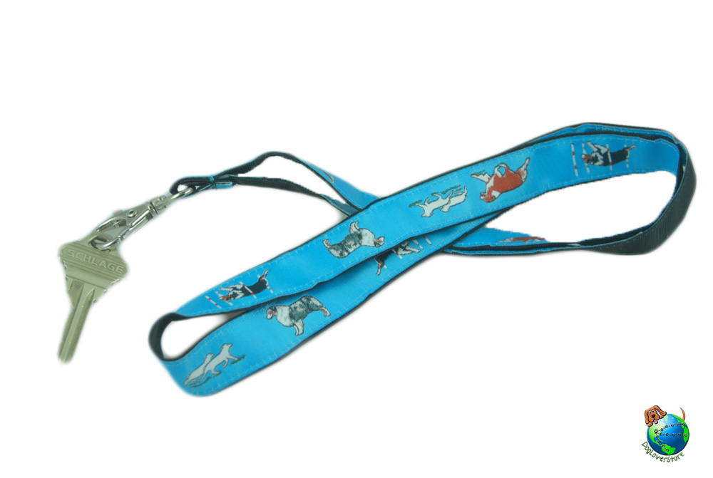 Australian Shepherd Lanyard Key Holder Badge Holder